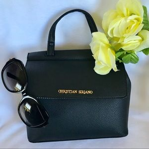 NWT Christian Siriano Black Crossbody Handbag